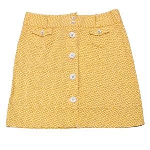 L.L. Bean Geometric Print Button Up Skirt Size 8